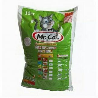 Mr.Cat (Мистер Кэт), сухой корм, для кошек, Мясное АССОРТИ, 10 кг