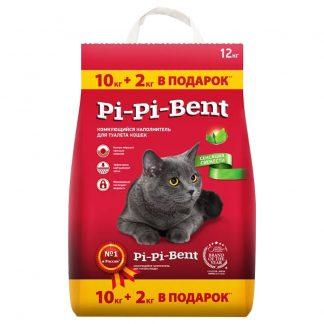 Pi-Pi-Bent (ПИ ПИ БЕНТ), комкующийся наполнитель, Сенсация свежести, 10 кг
