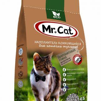 Mr.Cat (Мистер Кэт), наполнитель комкующийся, БЕНТОНИТ, 5 л