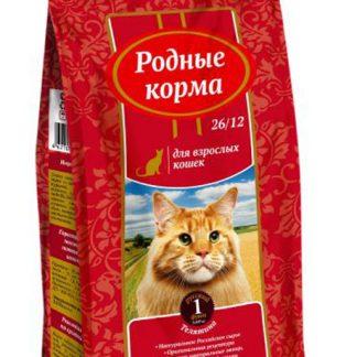 РОДНЫЕ КОРМА, сухой корм для кошек, ТЕЛЯТИНА, 409 г