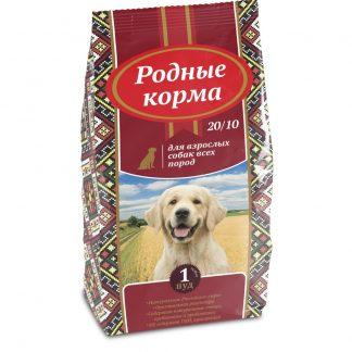 РОДНЫЕ КОРМА, сухой корм для собак всех пород, 16,38 кг