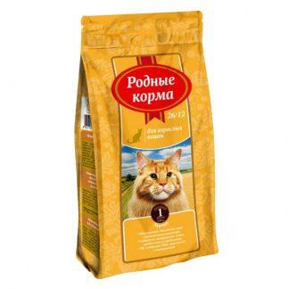 РОДНЫЕ КОРМА, сухой корм для кошек, КУРИЦА, 409 г