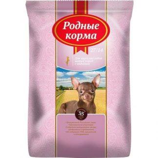 РОДНЫЕ КОРМА, сухой корм, для мелких пород собак, ИНДЕЙКА, 10 кг