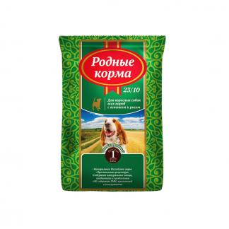 РОДНЫЕ КОРМА, сухой корм для все пород собак, ЯГНЕНОК и РИС, 16,38 кг
